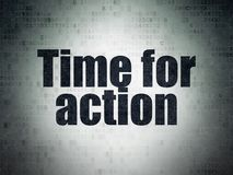 Timeline concept: Time for Action on Digital Data Paper background Stock Photography