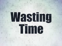 Timeline concept: Wasting Time on Digital Data Paper background. Timeline concept: Painted black word Wasting Time on Digital Data Paper background Stock Image