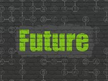 Timeline concept: Future on wall background Royalty Free Stock Image