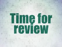 Timeline concept: Time for Review on Digital Data Paper background Royalty Free Stock Image
