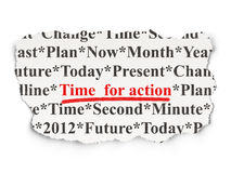 Timeline concept: Time for Action on Paper background Royalty Free Stock Image