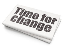 Timeline concept: Time for Change on Blank Newspaper background Royalty Free Stock Images