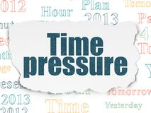 Timeline concept: Time Pressure on Torn Paper background. Timeline concept: Painted blue text Time Pressure on Torn Paper background with  Tag Cloud Royalty Free Stock Images