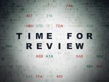 Timeline concept: Time for Review on Digital Data Paper background Stock Photo