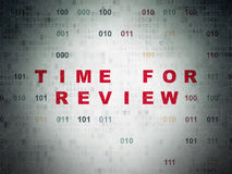 Timeline concept: Time for Review on Digital Data Paper background Royalty Free Stock Images