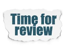 Timeline concept: Time for Review on Torn Paper background Royalty Free Stock Photo