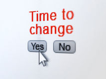 Timeline concept: Time to Change on digital computer screen Royalty Free Stock Photos