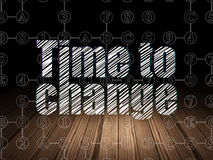 Timeline concept: Time to Change in grunge dark Royalty Free Stock Images