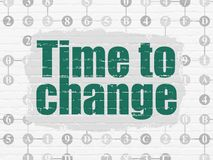 Timeline concept: Time to Change on wall background Royalty Free Stock Photos