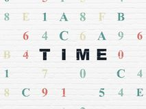 Timeline concept: Time on wall background Royalty Free Stock Image