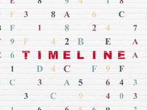 Timeline concept: Timeline on wall background Royalty Free Stock Photo