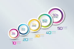 Timeline connected element banner, template, chart, infographic, step by step number option, layout. Stock Photo