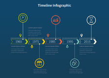 Timeline design template with icons and graphics Royalty Free Stock Photo