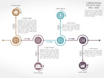 Timeline Design Template Royalty Free Stock Photography