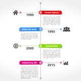Timeline Design Template Stock Photography
