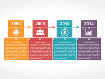 Timeline Design Template Royalty Free Stock Photos