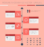 Timeline and frames - modern infographic template Royalty Free Stock Photos
