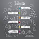 Timeline idea generation concept vector background Stock Photography