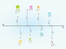 Timeline  Info-Graphic Royalty Free Stock Photography