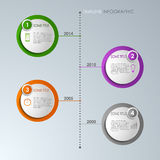 Timeline info graphic round template Stock Photography