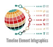 Timeline Infographic vektor illustrationer