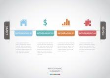 Timeline Infographic Arkivfoton