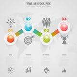 Timeline Infographic Arkivbild