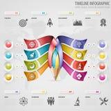 Timeline Infographic Royaltyfria Foton