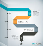 Timeline Infographic Royalty Free Stock Image