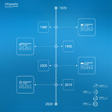 Timeline Infographic with arrows and pointers. Stock Images