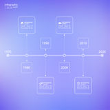 Timeline Infographic with arrows and pointers. Royalty Free Stock Image