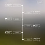 Timeline Infographic with arrows and pointers. Stock Photo