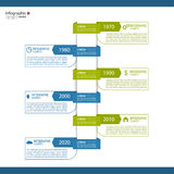 Timeline Infographic with arrows and pointers. Stock Photos