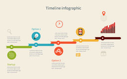 Timeline Infographic business with diagrams Royalty Free Stock Photos