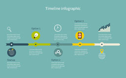Timeline Infographic business with diagrams Stock Photos