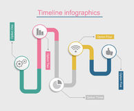 Timeline infographic business template. Vector illustration Stock Images