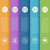 Timeline infographic business template. Vector illustration Royalty Free Stock Photography