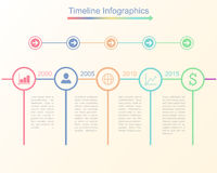 Timeline infographic business template. Vector illustration Stock Photography