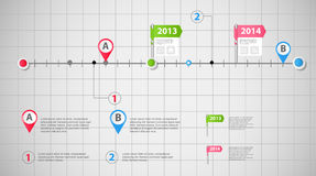 Timeline infographic business template vector illustration Stock Image