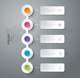 Timeline infographic design and business icons with 5 options. Royalty Free Stock Photo