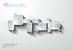 Timeline Infographic design template Royalty Free Stock Photo