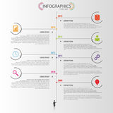 Timeline infographic design template. Vector Stock Photos