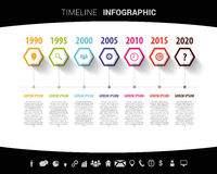 Timeline infographic design template. Vector illustration Stock Photography