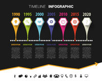 Timeline infographic design template. Vector illustration Stock Photo