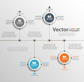 Timeline infographic design vector  can be used for workflow, diagram, annual report, web design Royalty Free Stock Photos
