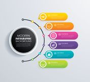 Timeline 6 infographic design vector and marketing icons.Can be Royalty Free Stock Image