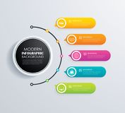 Timeline 5 infographic design vector and marketing icons.Can be Royalty Free Stock Images
