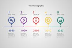 Timeline Infographic Stock Photography