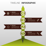 Timeline infographic Element. Template. Vector Stock Image