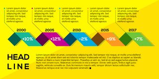 Timeline Infographic Element template. You can chane any element in this template Stock Images